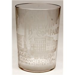 Large National Brewing Company glass