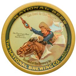 National Beer Tip Tray, Cowboy on Horse by Hansen