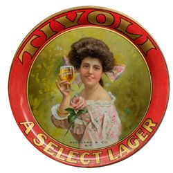 Tivoli Lager Tip Tray, Agent Aug. Lang & Co., S.F.
