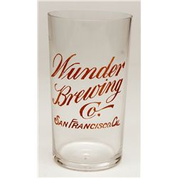 Wunder Brewing Co. glass