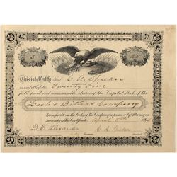 Very Rare Lash's Bitters Co. Stock Certificate