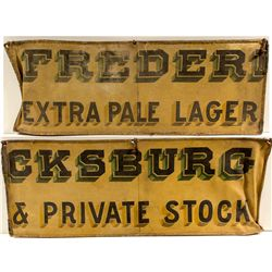 Fredericksburg Canvas Advertising Wagon Side Signs