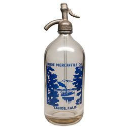 Gorgeous Tahoe Mercantile Co. Seltzer Bottle