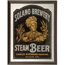 Solano Brewery Tin Corner Advertising Sign