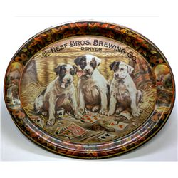 The Neef Bros. Brewing Co. Beer Tray w/puppies