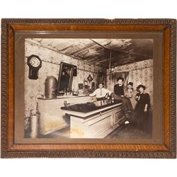 Framed Nevada saloon photograph