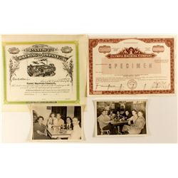 Brewery Stock Certificates