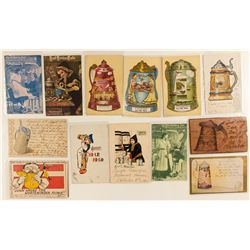 Thirteen Beer Stein Postcards