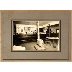 Saloon interior and cigar counter