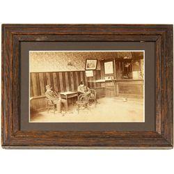 Saloon photo with 2 men sleeping