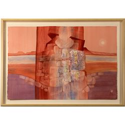 """Almost Sundown"" by Nevada Artist Ruth Hilts"