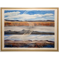 """Dust Devil Country"" by Nevada Artist Ruth Hilts"