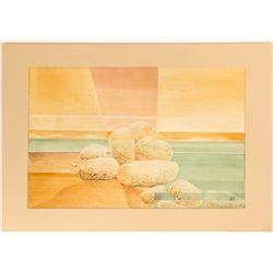 """""""Tufa, Sand and Sun"""" by Nevada Artist Ruth Hilts"""