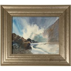 Wild Waters Watercolor by Pat Bergstrom