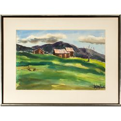 Lush Nevada Watercolor by Joan Scott Brown