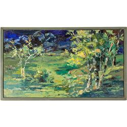 Trees Oil Painting by Mildred Lane