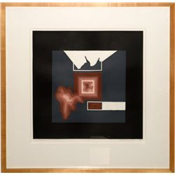 """""""Contour IV"""" monotype/collage by Jim McCormick"""