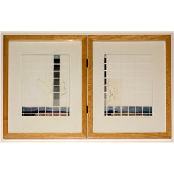 """Sight Line: Ruth I and II"" mixed medium by Jim McCormick"