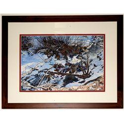 """Winter Creek"" watercolor by Larry Jacox"