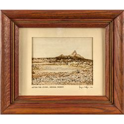 After the Storm, Nevada Desert miniature painting By Jacques Helfer