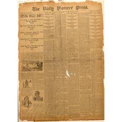 Sitting Bull newspaper article in the Pioneer Press