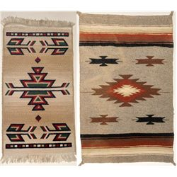 Replica Navajo Rug Pair
