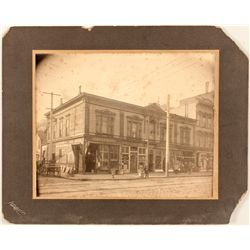 Pre-quake photograph of J.D. Rippe, Grocer on 24th & Bryant