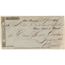 Rare SF Merchant, Goodwin & Co., Receipt for Cookies