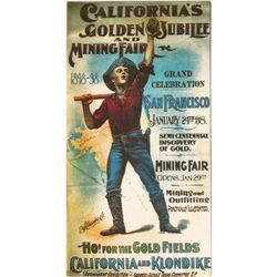 Print of California Golden Jubilee & Mining Fair