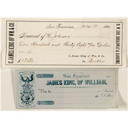 Two James King of William Checks