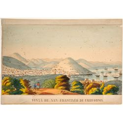 Vista de San Francisco de California Lithograph by Lopez