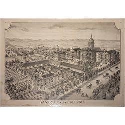 Santa Clara College Lithograph c.1876