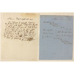 Handwritten Court Documents from Shaws Flat and Chinese