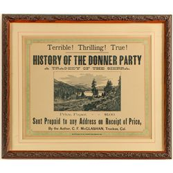 """History of the Donner Party"" ad"