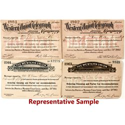 Western Union Telegraph Co. 1/2 Rate Passes (11)