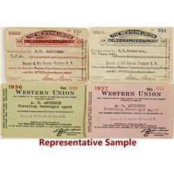 Western Union Telegraph Co. Passes for Denver & Rio Grande Railroad (13)
