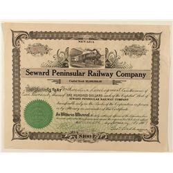 Seward Peninsular Railway Co. Stock Certificate