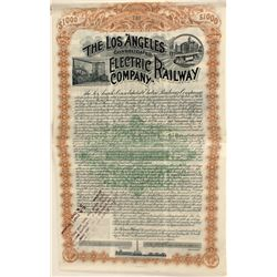 Choice $1000 Gold Bond for Los Angeles Cons. Electric Railway Co.