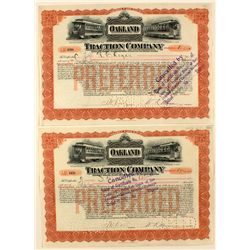 Oakland Traction Company Railroad Stock