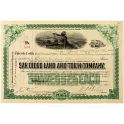 San Diego Land and Town Co. Stock Certificate