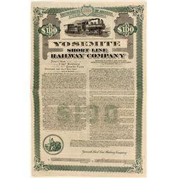Yosemite Short Line Railway Co. $100 Gold Bond