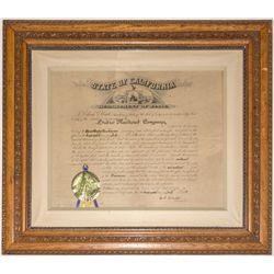 Articles of Incorporation for Sutro Railroad Company