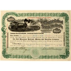 Choice Red Mountain Railroad stock