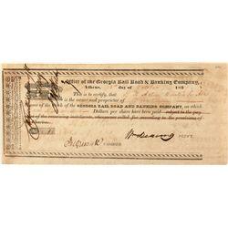 Georgia Rail Road & Banking Co. Stock Certificate