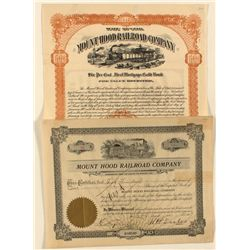 Mount Hood Railroad Co. Stock Certificate and Gold Bond