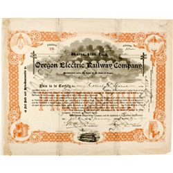 Oregon Electric Railway Co. Stock Certificate
