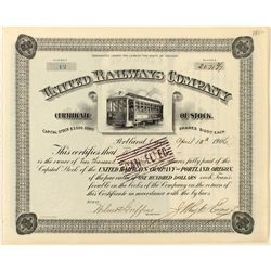 United Railways Co. Stock Certificate