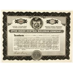 Utah Idaho Central Railroad Co. Stock Certificate
