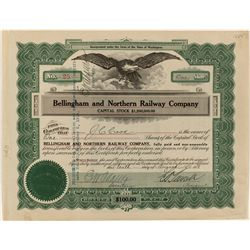 Bellingham and Northern Railway Co. Stock Certificate
