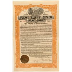 Spokane, Valley & Northern Railway Co. First Mortgage Gold Bond